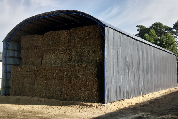 Ogłoszenie rolnicze: HALA stalowa łukowa Wiata rolnicza TIR 11,8 X 70