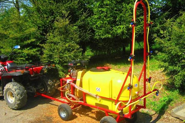 Ogłoszenie rolnicze: Opryskiwacz+ zamgławiacz spalinowy. Wózkowy model POLEXIM200