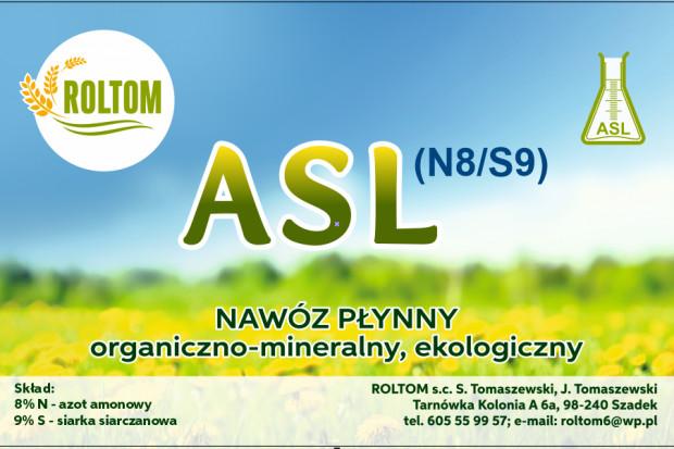 Ogłoszenie rolnicze: Sprzedam nawóz organiczno-mineralny A.S.L(N8/S9)