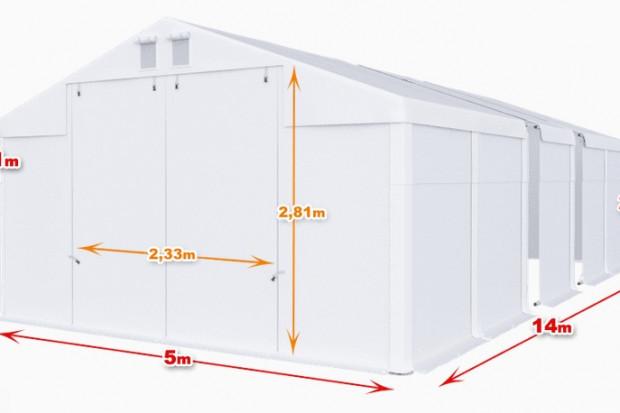 Ogłoszenie rolnicze: Całoroczna Hala namiotowa 5m × 14m × 2,5m/3,41m
