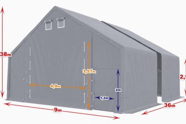 Ogłoszenie rolnicze: Hala namiotowa 9m × 36m × 3m/5,38m