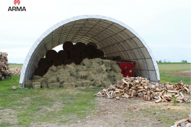 Ogłoszenie rolnicze: hala łukowa konstrukcja kratownicowa magazyn zadaszenie 12x38