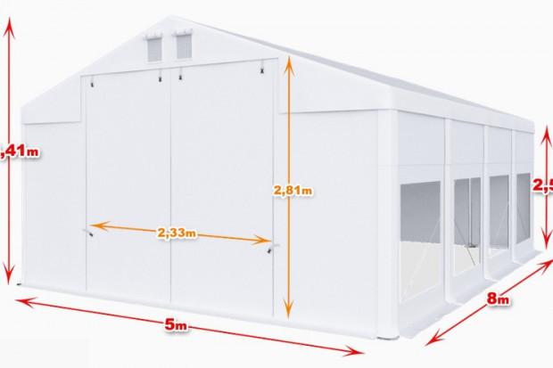 Ogłoszenie rolnicze: Całoroczna Hala namiotowa 5×8×2,5/3,41m