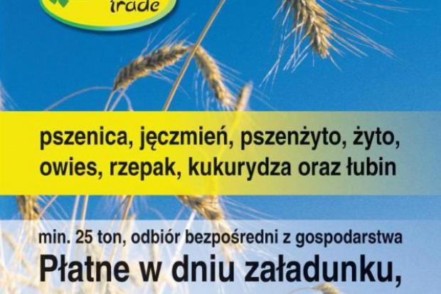 Ogłoszenie rolnicze: kupię zboża- skup zboża woj śląskie