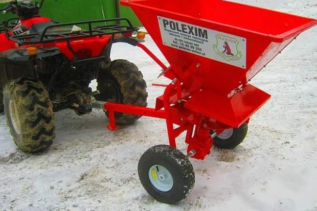 Ogłoszenie rolnicze: Rozsiewacz soli, piasku, nasion dla ATV, ciągników itp