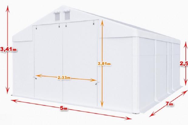 Ogłoszenie rolnicze: Całoroczna hala namiotowa magazyn 5m × 7m × 2,5m/3,41m
