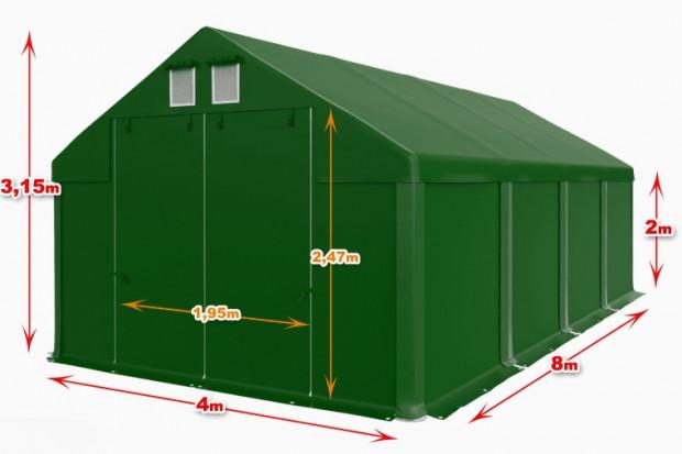 Ogłoszenie rolnicze: Wiata Całoroczna Hala namiotowa 4m × 8m × 2m/3,15m