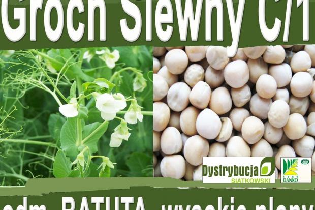 Ogłoszenie rolnicze: Kwalifikowane nasiona siewne grochu siewnego odm. BATUTA C/1