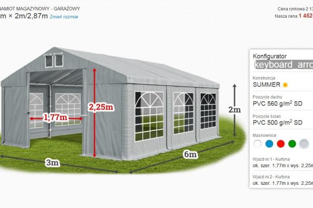 Ogłoszenie rolnicze:  Namiot magazynowy 3x6x2 MTB różne wielkości!