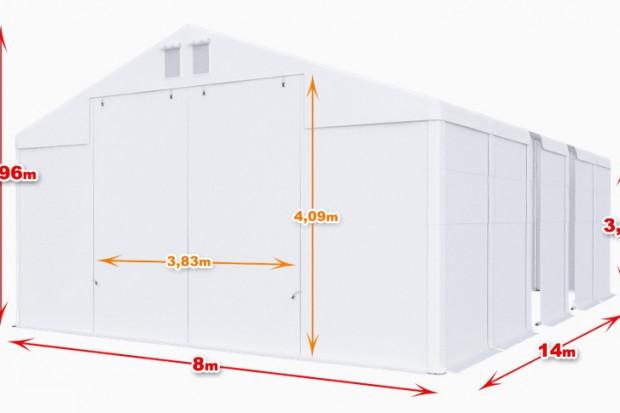 Ogłoszenie rolnicze: Całoroczna Hala namiotowa 8×14 × 3,5m
