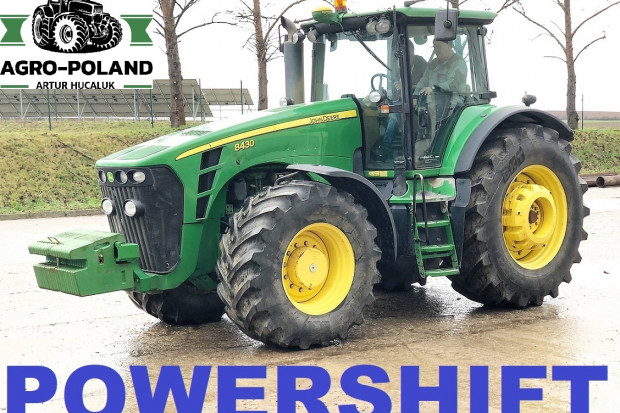 Ogłoszenie rolnicze: JOHN DEERE 8430 POWERSHIFT - 2008 ROK - AUTOPILOT - GPS - AUTOTRAC