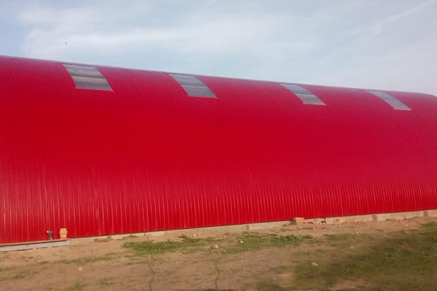 Ogłoszenie rolnicze:  HALA ŁUKOWA tunelowa bale słomę wiata 10,8 x 17,5