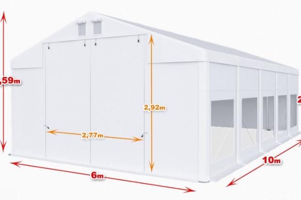 Ogłoszenie rolnicze: Całoroczna Hala namiotowa 6m × 10m × 2,5m/3,59m