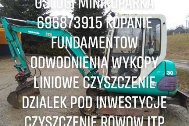 Ogłoszenie rolnicze: Uslugi minikoparka