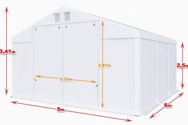Ogłoszenie rolnicze:  Całoroczna Hala namiotowa 5m × 6m × 2,5m/3,41m