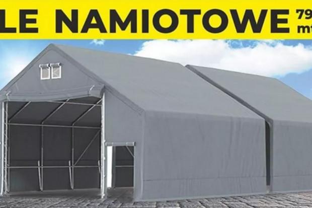 Ogłoszenie rolnicze:  Mocny namiot magazynowy MTB Warsztat Garaż 9x28x3