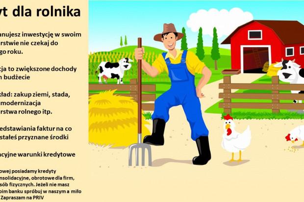 Ogłoszenie rolnicze: Finansowanie działalności rolniczej - Kredyt gotówkowy dla rolnika