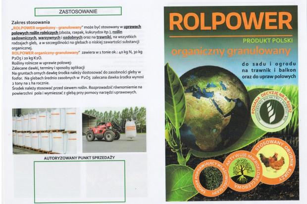 Ogłoszenie rolnicze: sprzedam obornik kurzy granulowany ROLPOWER organiczny