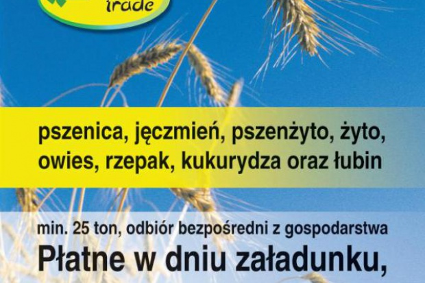 Ogłoszenie rolnicze: kupię zboża- skup zboża woj zachodniopomorskie